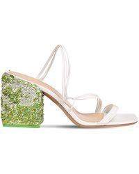 Jacquemus 70mm Les Estello Leather Sandals - Weiß