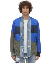 Greg Lauren - Puffy Nylon & Army Kimono Jacket - Lyst