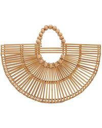 Cult Gaia Fan Ark Bamboo Top Handle Bag - Natural
