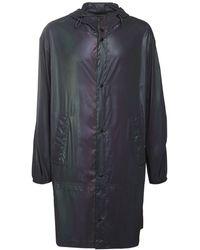 Marcelo Burlon Reflective Logo Tech Raincoat - Black