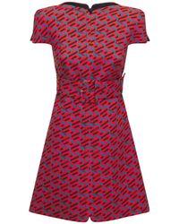 Versace Monogram ジャカードミニドレス - レッド