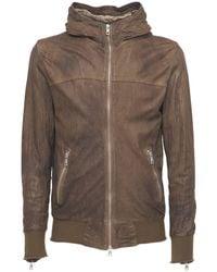 Giorgio Brato - Hooded Leather Zip Jacket - Lyst