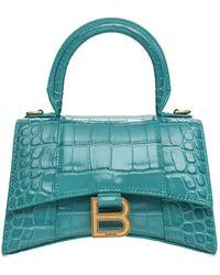 Balenciaga Сумка Из Кожи С Тиснением Xs Hourglass - Зеленый