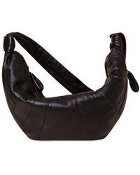 Lemaire Large Croissant Leather Shoulder Bag - Black