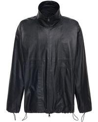 Bottega Veneta Водонепроницаемая Кожаная Куртка - Черный