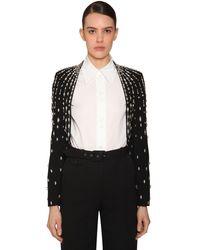 Givenchy Пиджак Из Шерстяного Крепа - Черный