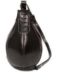 JW Anderson Small Punch Leather Crossbody Bag - Black