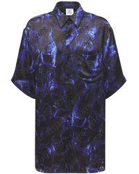 Vetements フルイドビスコースシャツ - ブルー