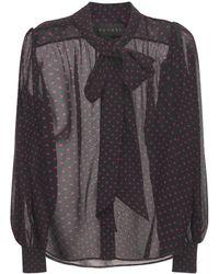 Dundas Polka Dot シルクシャツ - ブラック