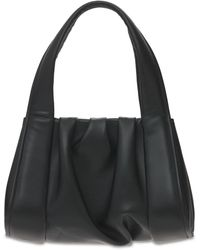 THEMOIRÈ Clio Basic Faux Leather Top Handle Bag - Black