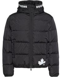 DSquared² Leaf ナイロンダウンジャケット - ブラック