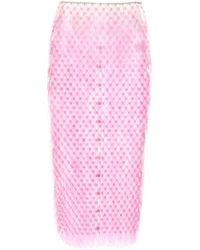 Paco Rabanne スパンコールスカート - ピンク
