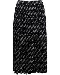 Vetements ビスコーススブレンドプリーツスカート - ブラック