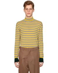 Marni Sweater Aus Wollstrick Mit Streifen - Gelb