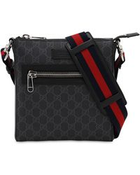 Gucci GG Supreme Canvas Flight Bag - Black