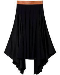 Loewe アシンメトリースカート - ブラック