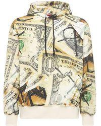 424 Money Print Cotton Hoodie - Natural