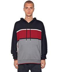 Y. Project Colour Block Knit Sweatshirt Hoodie - Black