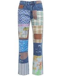 Jaded London Jeans Patchwork - Azul