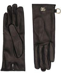 Dolce & Gabbana レザーグローブ - ブラック