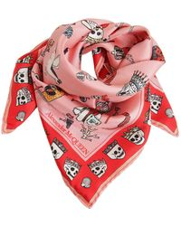 Alexander McQueen - Animals Printed Silk Chiffon Scarf - Lyst