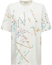 JW Anderson Oscar Wilde コットンジャージーtシャツ - マルチカラー