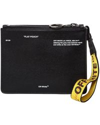 "Off-White c/o Virgil Abloh - ""flat Pouch"" Printed Leather Pouch - Lyst"