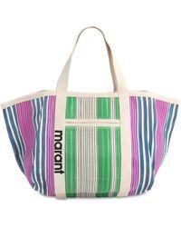 Isabel Marant Printed Nylon Tote Bag - Green