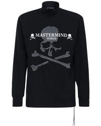 MASTERMIND WORLD コットンロングtシャツ - ブラック