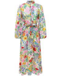 Gucci Flower シルクドレス - マルチカラー