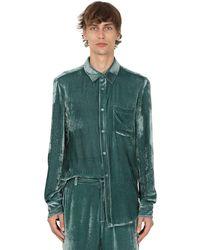 Sies Marjan Hemd Aus Viskosechenille Und Cupro - Grün