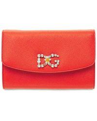 Dolce & Gabbana Кожаная Сумка С Декором - Оранжевый