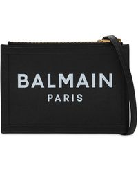 Balmain Three Pouches 22 レザーバッグ - ブラック