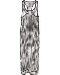 Ganni Grid スリップドレス - ブラック