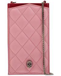 Alexander McQueen Кожаный Чехол Для Телефона - Розовый