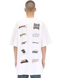 ADER error Oversized T-shirt Aus Baumwolljersey Mit Druck - Weiß