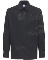 Burberry - Рубашка Из Хлопкового Поплин С Принтом - Lyst