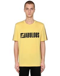 Fendi Two Tone Ffabulous Jersey T-shirt