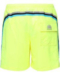 Sundek Shorts Aus Stretch-technostoff Mit Logo - Gelb