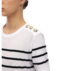 Balmain コットンジャージーtシャツ - ホワイト