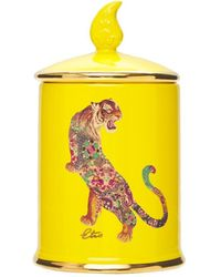 Etro Tiger Amber Ceramic Candle - Yellow