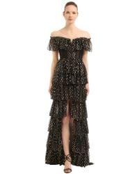 RAISA & VANESSA - Off-the-shoulder Ruffled Polka Dot Dress - Lyst