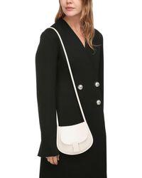 Jil Sander Mini Crescent Leather Shoulder Bag - Multicolour
