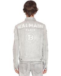 Balmain - Куртка Из Хлопкового Денима - Lyst