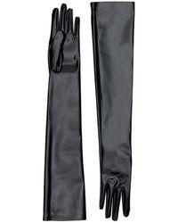 Gucci Vinyl Long Gloves - Schwarz