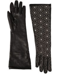 DSquared² - Studded Napa Leather Gloves - Lyst