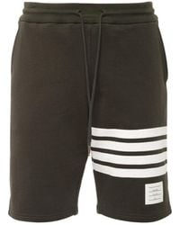 Thom Browne Cotton Jersey Sweat Shorts W/ 4 Bar - Multicolour