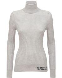Moncler ウールニットセーター - グレー