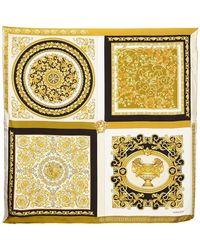 Versace Foulard En Twill De Soie Imprimée - Métallisé