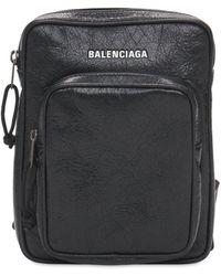 Balenciaga Кожаная Сумка Через Плечо - Черный
